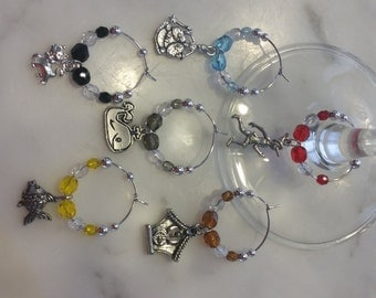 Pinocchio Themed  Wine Charms