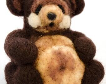 Needle Felt  Kit, Teddy Bear Kit