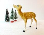 Vintage Celluloid Deer Figure / christmas decor