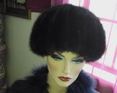 "Hat Mink fur Small to Medium  Size 20""  diam Excellent Condition Fancy and Elegant as Hollywood Movies"