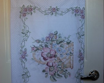 Two Printed Embroidery Design Clean Pillowcases