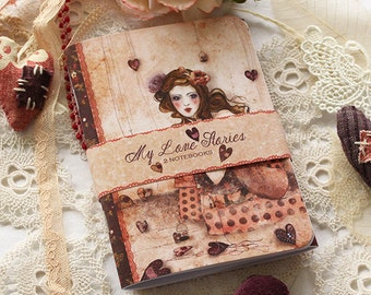 Illustrated notebook set - My Love Stories