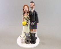 scottish terrier wedding cake toppers unique scottish cake topper related items etsy 19692