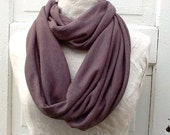 Womans Brown Scarf, Soft and Thick, Light Brown, Unisex Loop Scarf, Cowl Neck Warmer