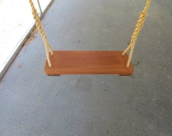 Limited Edition Premier Wood Tree Swing / 10 feet of rope per side