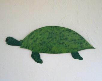 Metal wall art ocean decor sea turtle sculpture Charlie bathroom beach house coastal wall art recycled metal turtle