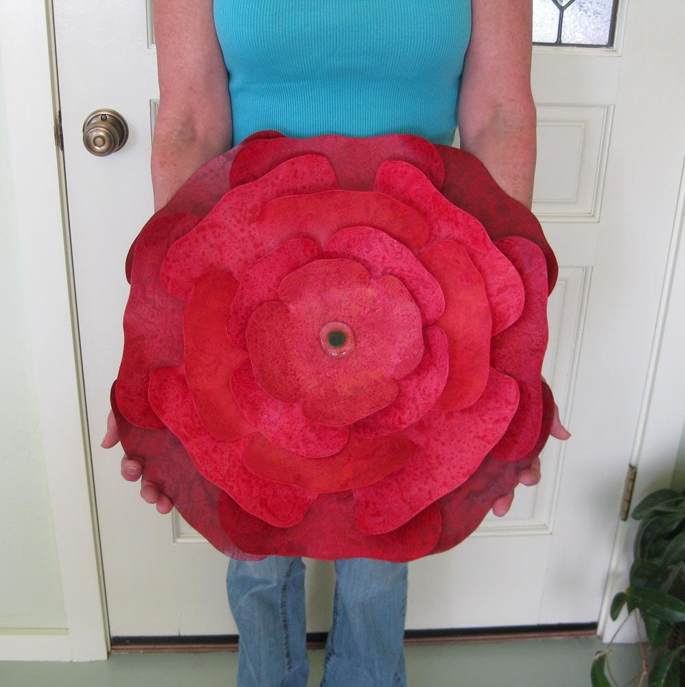 Extra large metal wall sculpture flower art red hibiscus zoom amipublicfo Choice Image