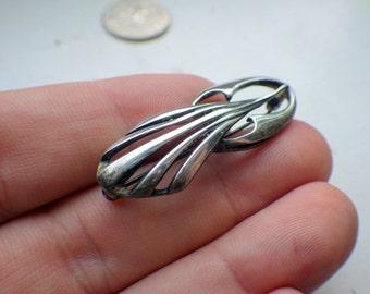 Unique Deco Sterling Silver Pin.