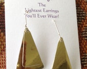 Double Triangle Dangly Gold Aluminum Earrings