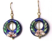 Blue Cloisonne Earrings...