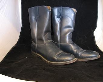 Vintage gray Diamond leather cowboy boots 9 women