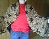 Kimono Sleeve BoleroJacket/Shrug.  Pashmina/Silk Fabric