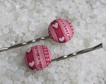 hair pins, Beautiful  bobby pin , brocade heart, Valentine's, PIF pay it forward,