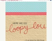 SALE Fabric greeting card - your choice of any card instore