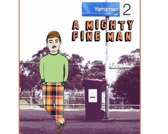 Melbourne Card - Yarraman A Mighty Fine Man
