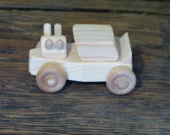 Mini Wooden Toys Hot Rod Race Car Wood Toy Kids Boy Child Birthday Handmade Woodworking