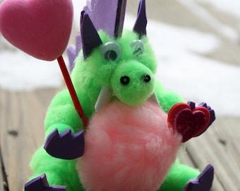 Pom Pom Dinosaur, Valentine Gift, Plush Dinosaur