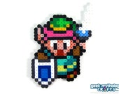 Legend of Zelda Link to the Past Perler Bead Sprite Pixel Art Figure