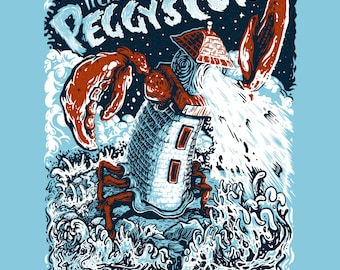 It Came from Peggys Cove- Silkscreen Art Print - Nova Scotia