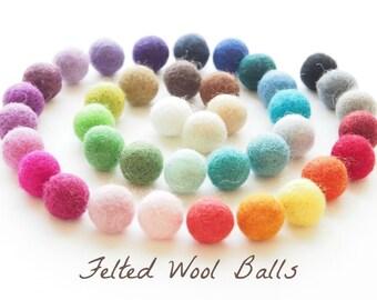 Felted Wool Beads, Felt Beads, Needle Felting DIY Craft Crafting Woodland Geometric Rainbow Spiral 20