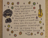 Bob Dylan Forever Young 10 x 10 print