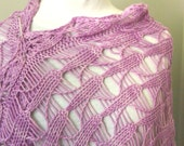 Instant Download pdf Hand Knitting Pattern - Cone Flower Scarf