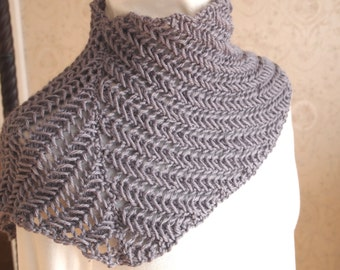 Instant Download pdf Hand Knitting Pattern - Traxs Cowl