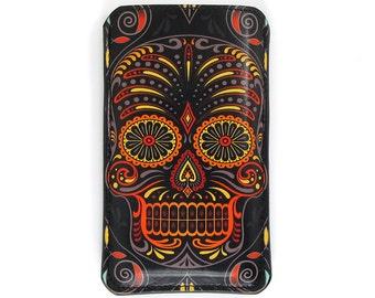 Leather iPhone 6 Case / iPhone 5s Case / iPhone 5 case / Galaxy S6 Case / Smartphone Case - Sugar Skull