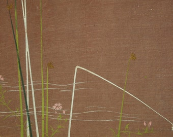 Antique Taisho-Showa Period Japanese Silkscreen Kimono Design - 35