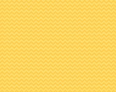 Riley Blake, Camp a Lot, Yellow Chevron Fabric, Bo Bunny, Designer Cotton Quilt Fabric, Yellow Tonal, Quilting, SELECT A SIZE