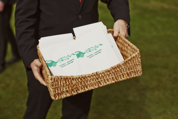 Printable Wedding Program - Wedding Program Template - Instant Download - PDF Wedding Program - Just Married - VW Beetle - Volkswagen Bug