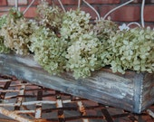 Rustic Planter, rustic centerpiece, distressed, wood box, bit of paint - 24inch