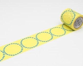 mt x mina perhonen Washi Masking Tape - Tambourine Petit Navy / Tambourine Grande Yellow