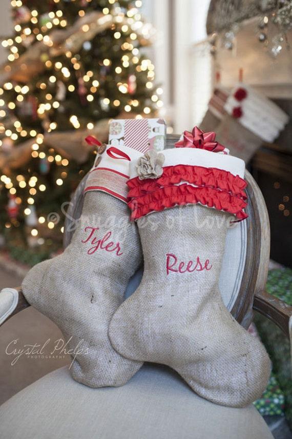 Handmade Personalized Christmas Stockings