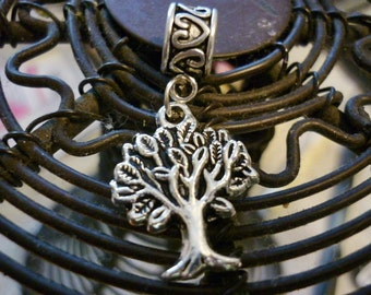 Tree of Life silver Dangle Charm, European dangle charm bead