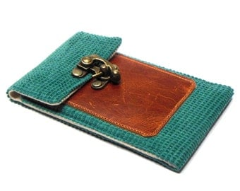 iPhone 5 / 6 / 6 Plus wallet - teal