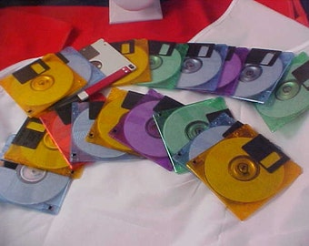 TWENTY (20) Colorful Floppy Discs for the Artisan Creations