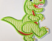 T Rex Dinosaur - Iron On or Sew On Embroidered Applique