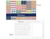 Madras plaid personalized placemat
