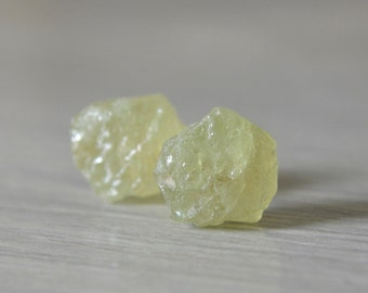 Grossular Garnet Raw Nugget Earrings