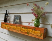 "WEDDING SHELF - Wood shelf - 36""l x5.25"" w x 5.75"" d -Custom made shelf - Floating Wall Shelf - Custom wedding shelf - Rustic Shelf"