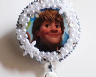 Kristoff From Frozen ID Badge Reel - RN ID Badge Holder - Zipperedheart