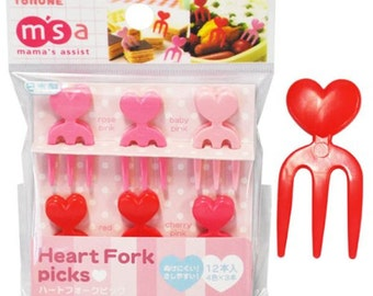 Heart fork picks - 12 pcs