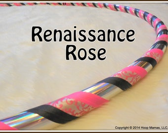NEW! Limited Edition Travel Hula Hoop 'Renaissance Rose.' One of A Kind. Unique Hoops at Great Prices.