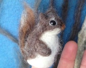 Needle felted finger puppet, squirrel