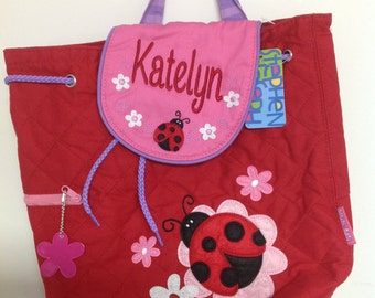 Personalized Quilted Stephen Joseph Ladybug Backpack