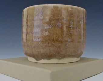 Golden Brown. Tan. Taupe. Honey. Sand. White. Earthtone. Speckled. Gloss. Ramikin #2.