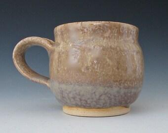 Mug: Golden Brown & Aqua. Tan. Taupe. Honey. Sand. Khaki. Seafoam. Celadon. Jade. White. Earthtone. Speckled. Gloss. Coffee. Tea. Cup. #3