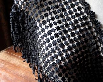 SALE Black Fringe Venise Lace  for Garments