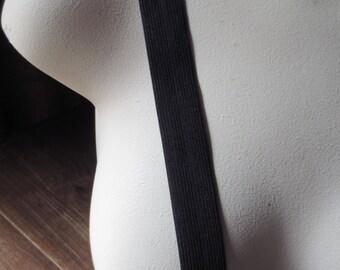 """Elastic 3 yds. Black 1"""" wide  for Belts, Waistbands, Costume Design"""